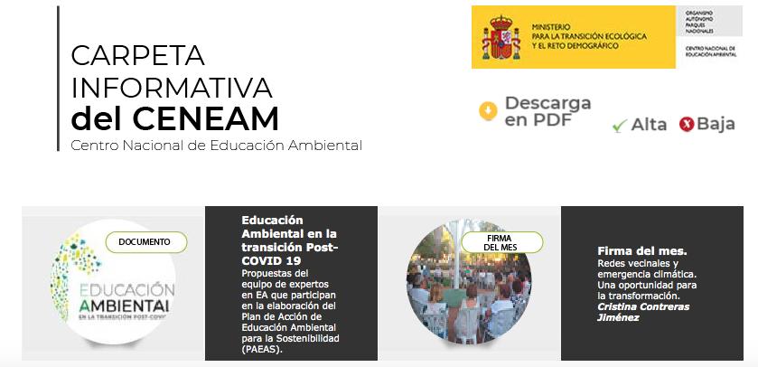 Carpeta informativa CENEAM junio 2020
